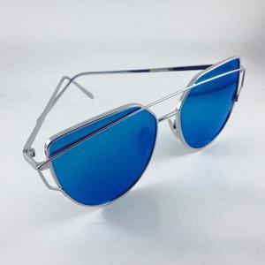 Lentes De Sol Eyecat Azul Y Plateado