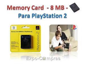 Memory Card 8 Mb / Tarjeta De Memoria Para Playstation 2