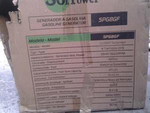 Planta Electrica Solpower 8.5kva Nueva De Caja Negociable