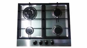 Tope Cocina A Gas 4 Hornillas 60 Cm En Acero Viotto Nueva