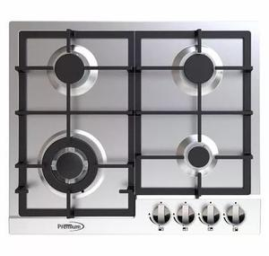 Tope Cocina Premium Pbs763a En Acero Inoxidable 60 Cm A Gas