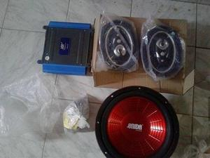 Combo Bajo 12 + Planta Amplificadora De 300 W + 2 Cornetas