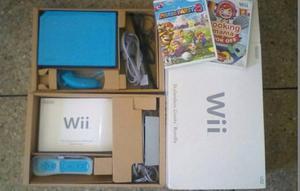Nintendo Wii Azul Edición Especial + 2 Juegos Originales