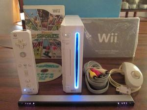 Nintendo Wii Original Con Controles, Cable Original Y Juego
