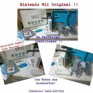 Nintendo Wii Original, Con Todos Sus Accesorios, Excelente!