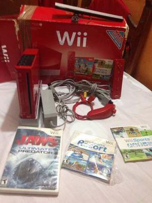Nintendo Wii Rojo Edición 25 Aniversario + 3 Juegos