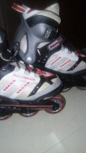 Patines En Línea Rollerblade Con Kit Codera Rodilleras
