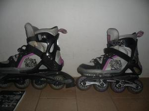 Patines Lineales Rollerblade Ajustables Con Luces