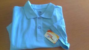 Chemis Escolar Azul Celeste Rs21 Talla M Masculino