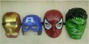 Mascaras Superheroes Avengers Iron Capitan Hulk Spider Senci