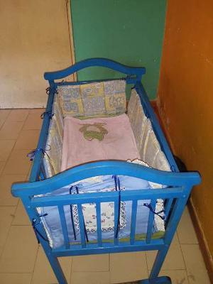 Mini Cuna Para Bebe De Madera En Perfecto Estado
