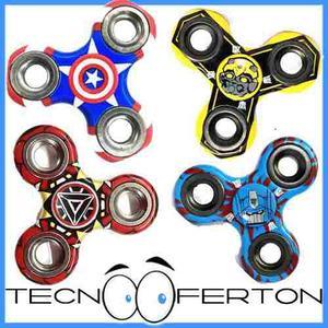 Super Fidget Spinner Transformers Vengadores Iron Man Oferta