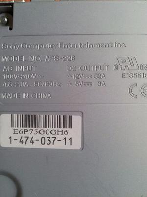 Fuente De Poder Playstation 3 Fat - Ps3 Modelo Aps-226