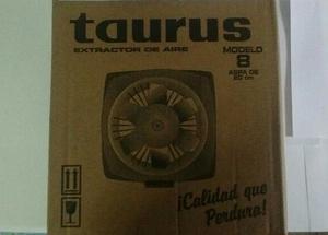 Extractor De Aire Taurus Modelo 8 Aspa De 20 Cm