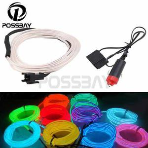 Led Cable O Hilo Luminiscente, Cascos, Moto, Carro Tunning!