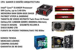 Cpu Gamer Diseño Igb Ddr4 1tb Video Gtx 570 Gddr5