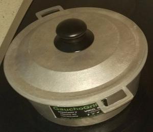 Caldero Aluminio Fundido Con Tapa 24 Cm Gauchogrillx