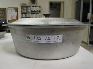 Caldero Aluminio Fundido Con Tapa 36 Cm Gauchogrillx