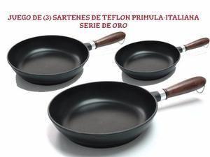 Juego De Sartenes Teflon Anti-adherente Primula  Cm