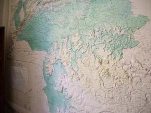 Mapa De De República De Venezuela En Relieve