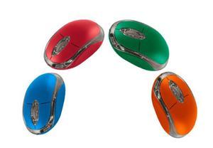 Mouse Usb Selektro Colores Naranja Rojo Azul Verde At