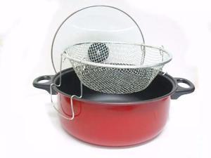 Olla Freidora 2en1 Tapa Refractaria 3.6lts Cocina Cesta
