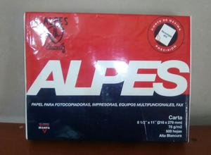 Vendo Una Resma Alpes Tamaño Carta