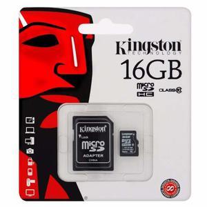 Memoria Micro Sd De 16 Gb Kingston Clase 10 Con Adaptador