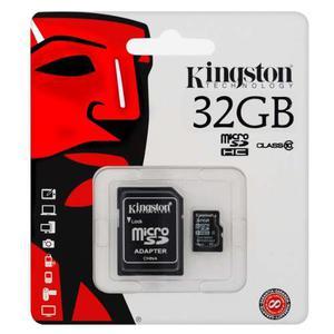 Memoria Micro Sd De 32 Gb Kingston Clase 10 Con Adaptador