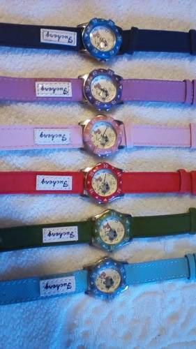 Relojes Para Niñas Y Niños/ Fc Snoopy Y Winnie Pooh