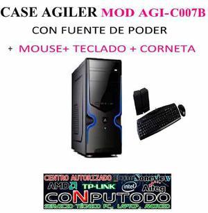 Case Agiler Con Fuente De Poder Mouse Teclado Y Corneta