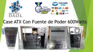 Case Atx Para Pc Con Fuente De Poder 600w Nueva Ofic. Fisica