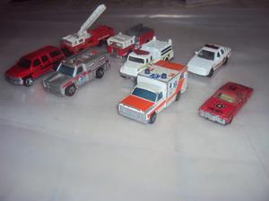Cuerpo De Bomberos.carros A Escala. Combo De 8 Carritos
