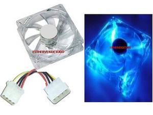 Fan Cooler Acrilico 8x8x2.5 Ctms. Con Led Azul Nuevo