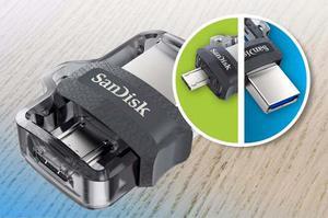 Pendrive Memoria Sandisk Dual Otg 64gb Usb  Mb/seg