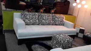 Sofa 3 Puestos Moderno.