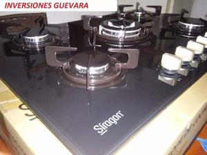 Tope De Cocina Gas De Lujo Vitroceramica Siragon Tg-