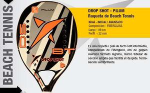 Raqueta De Tenis De Playa O Beach Tennis Drop Shot Pilum