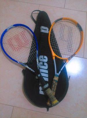 Raquetas Tenis Marca Wilson Y Prince + Estuche.