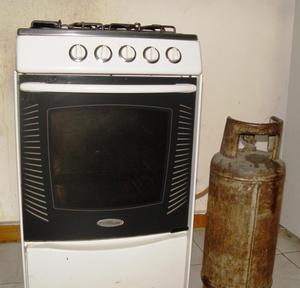 Cocina a gas 4 hornillas con bombona y regulador