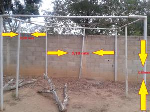 Tubos y conectores para hamsters posot class for Estructura de toldo