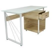 Mesa escritorio de vidrio templado