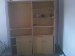 estantes o bibliotecas de madera
