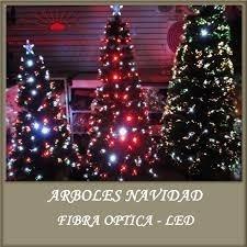 Arbolito De Navidad Iluminado Con Fibra Óptica De 1.20 Cm