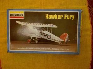 Avión Armable Lindberg Hawker Fury