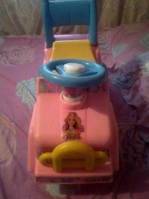 Carro Andadera- Montable 2 En 1 De Barbie