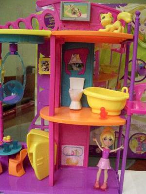 Casa De Muñecas Polly Con Muñeca