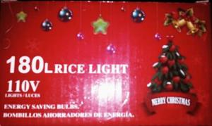 Luces De Navidad Tipo Arroz De 180 Luces.