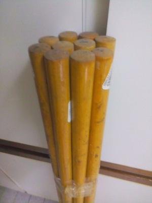 Palos Redondos O Tubos Para Cortinas En Madera 2x120cm 10pzs