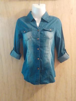 A La Venta Camisas De Jean Bacci Para Niña Tallas 8 A 16